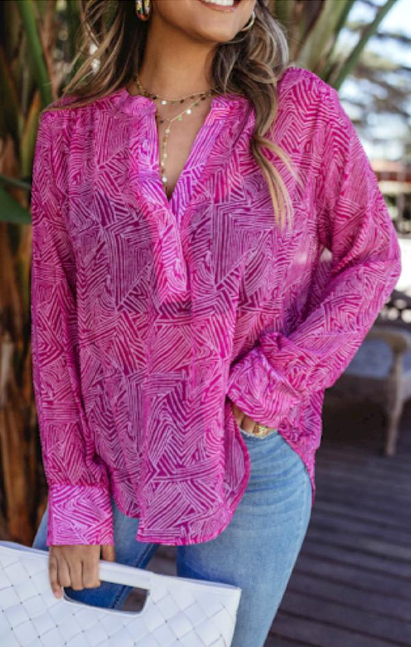 women's light pink Summer blouse