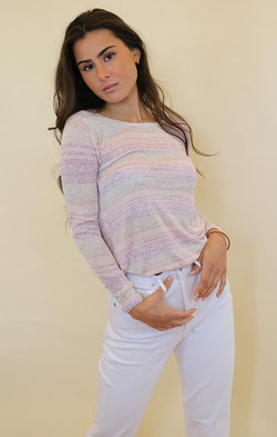 metric spring knit pink combo long sleeve