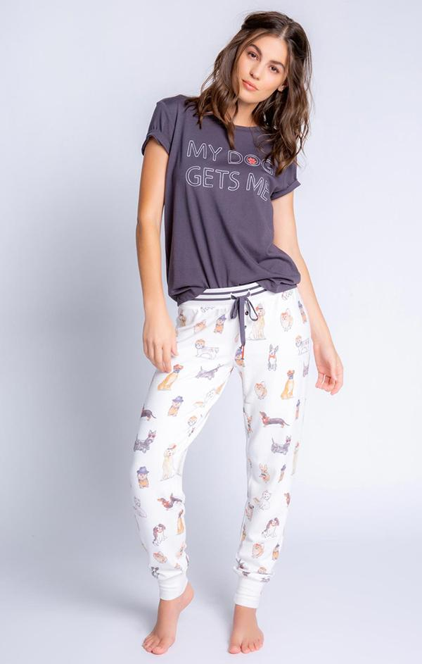 dogs and coffee jam pant pajamas