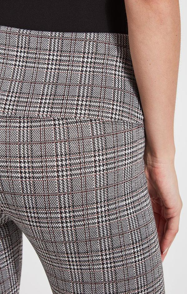 high waisted plaid cotton leggings