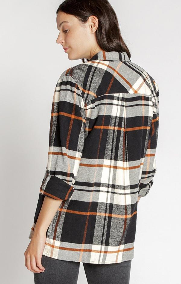 classic flannel top for fall