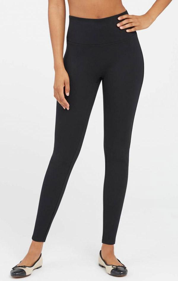 high waisted black ponte Spanx legging