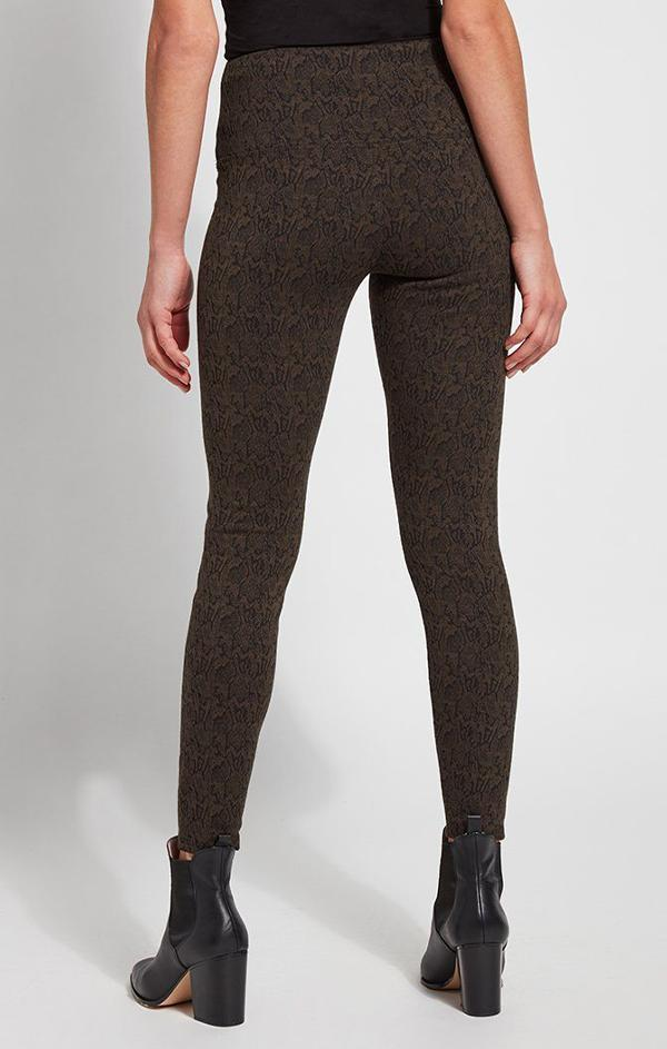 high waisted snake skin printed leggings