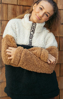 comfy teddy pullover for fall