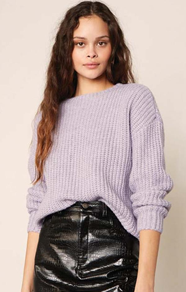 chunky knit sweater for fall