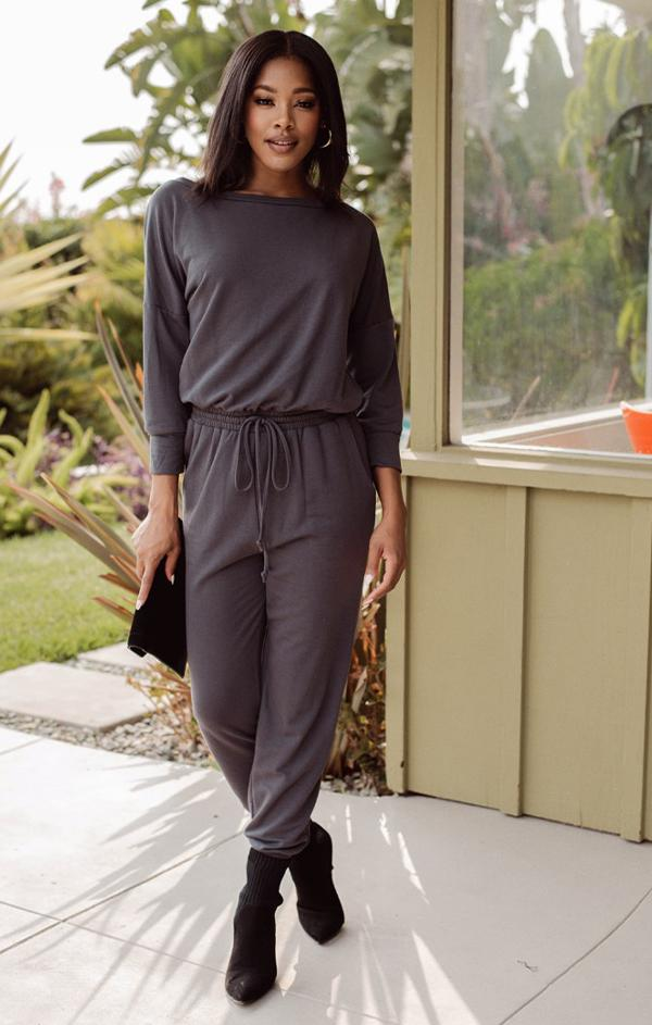 relaxed fitting jumpsuit