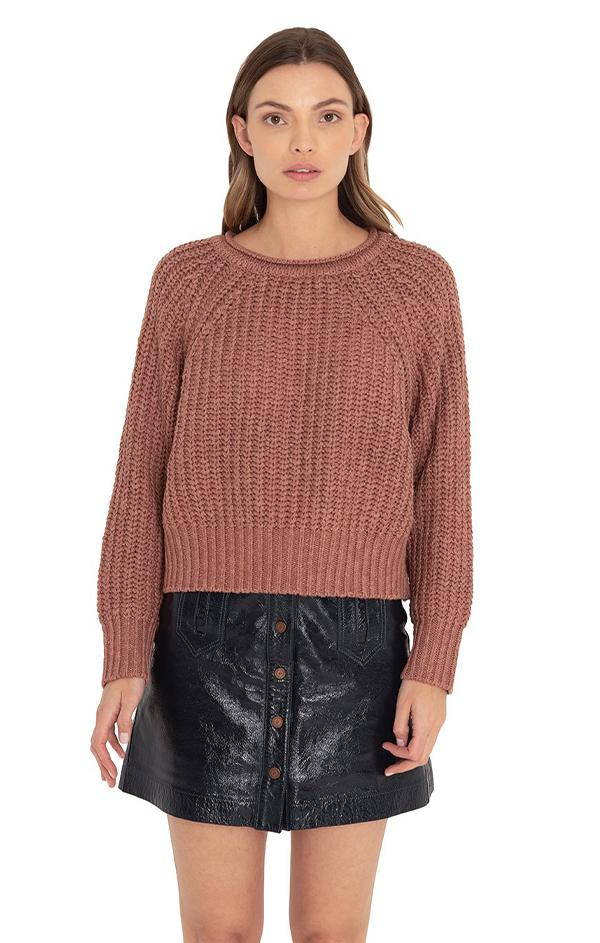 croups knit crew neck sweater