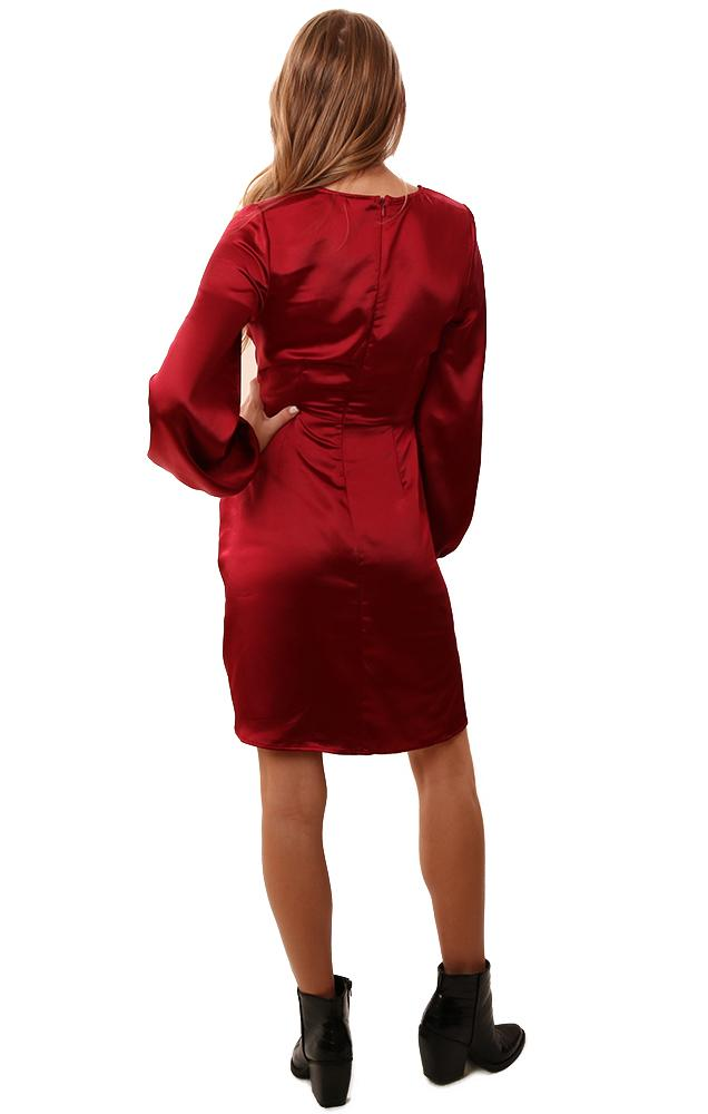 Cupcakes And Cashmere Dresses Wrap Front V Neck Silky Christmas  Party Dress