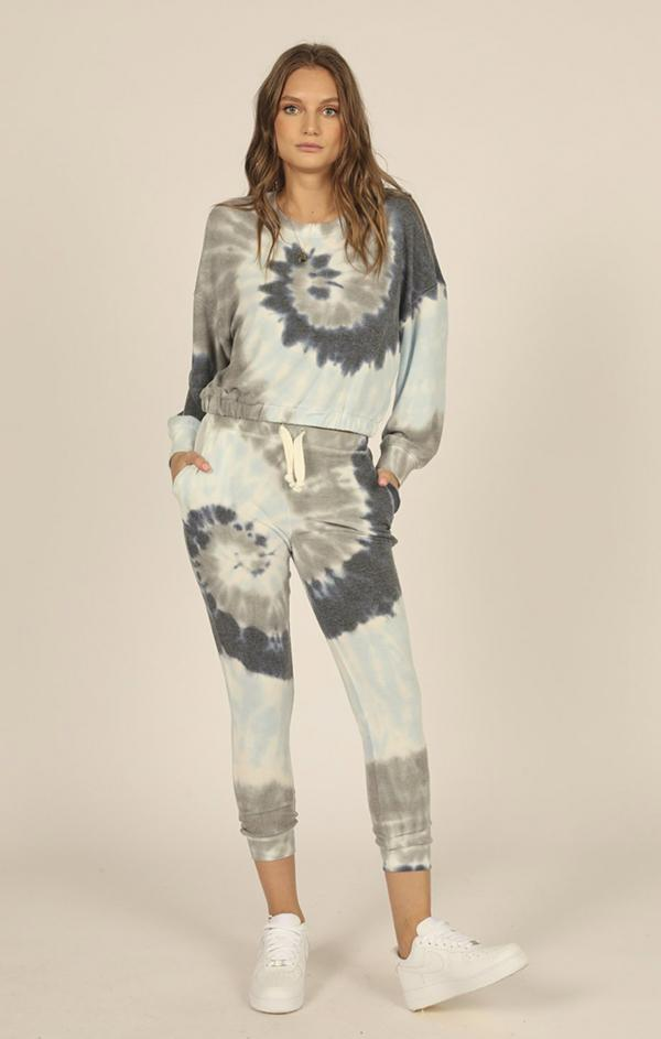 sailboat vintage havana blue grey tan tie dye matching jogger set