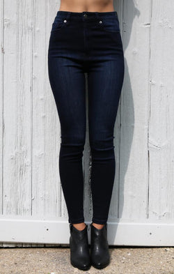 high waisted skinny denim jeans