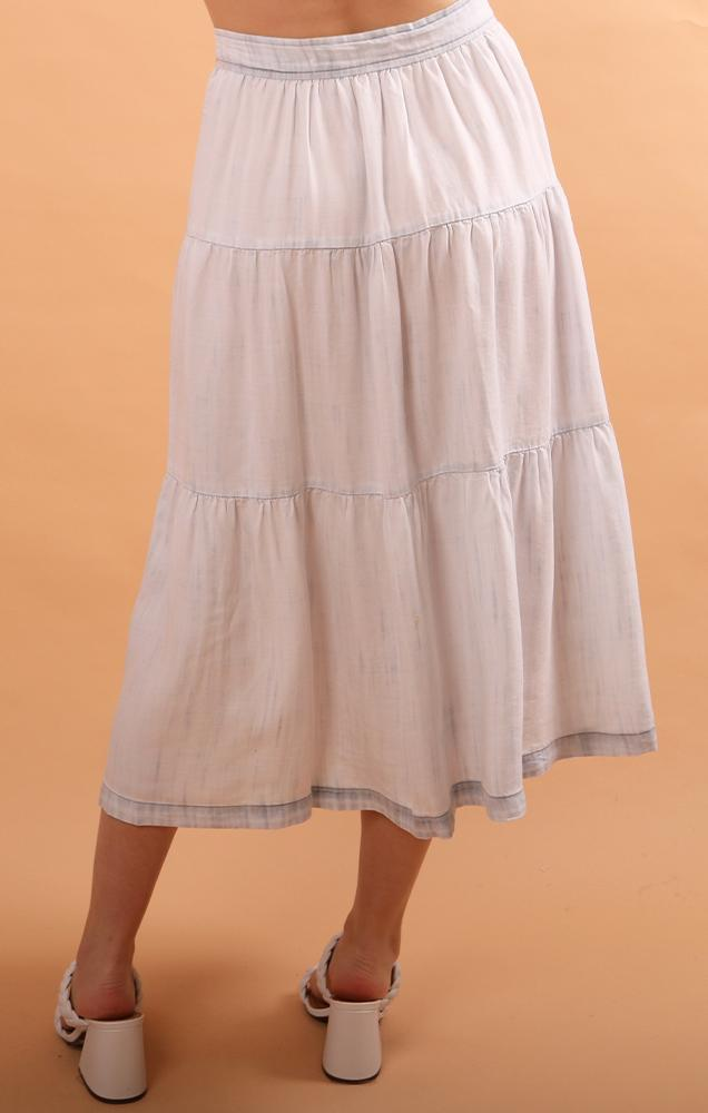 Bella Dahl maxi denim button front skirt
