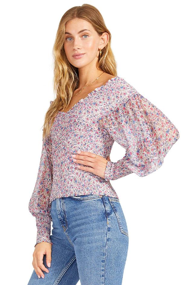 long sleeve spring trendy womens going out top