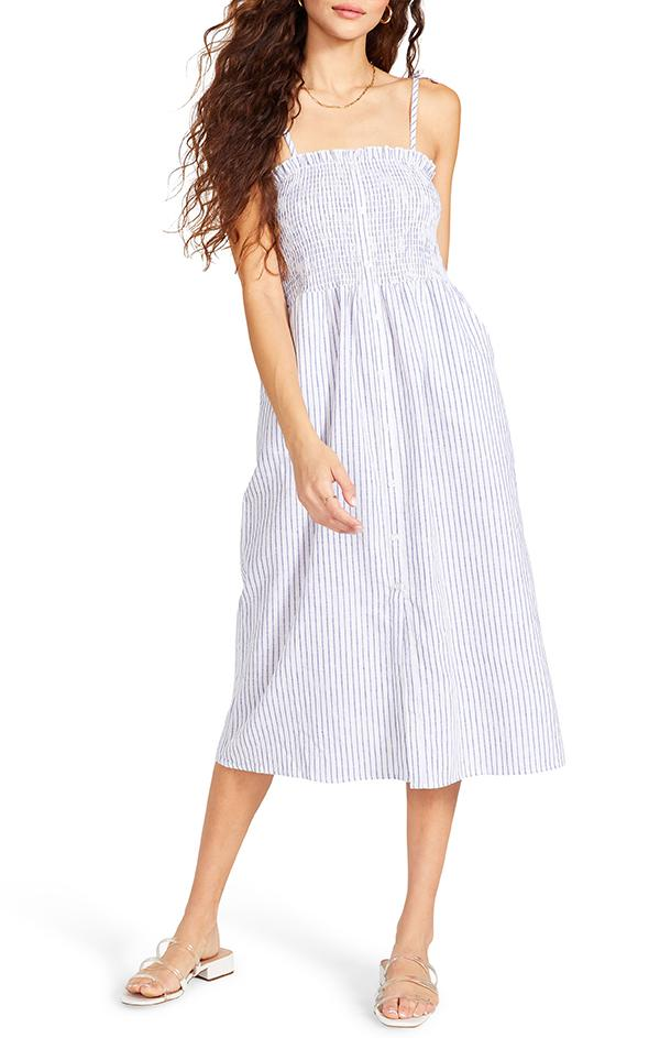 BB Dakota Striped midi Dress