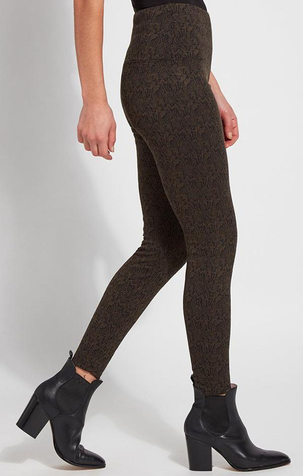snake skin printed high waisted leggings'