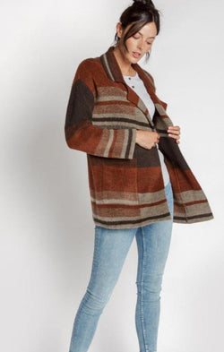 comfy striped fall jacket
