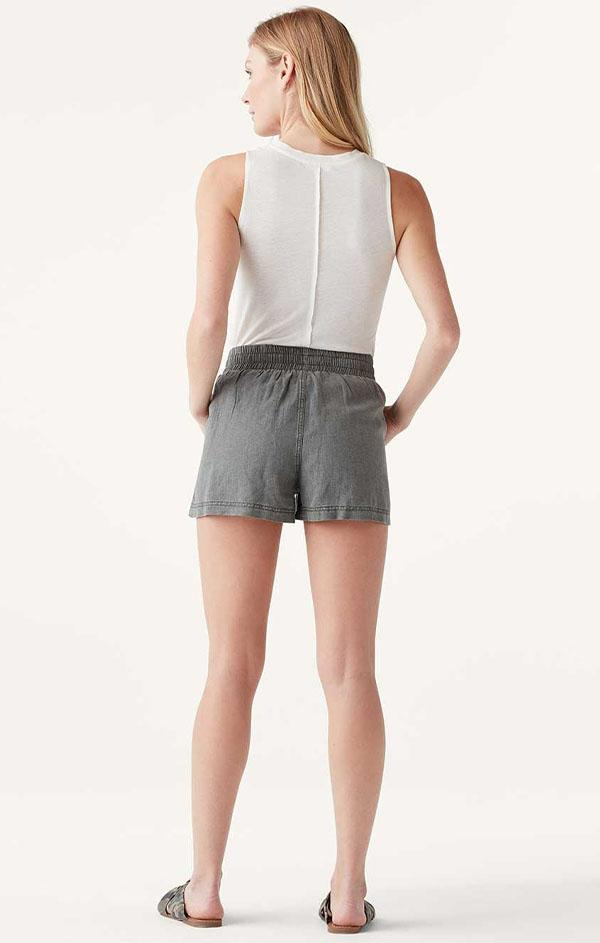 splendid pull on elastic campside shorts