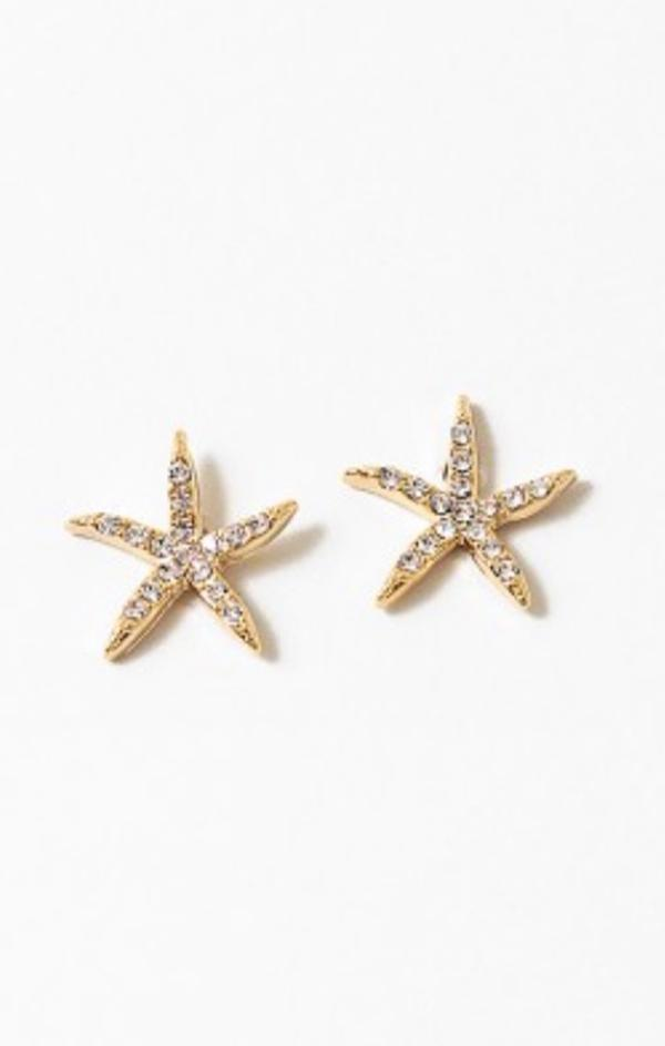 gold dipped star fish earring