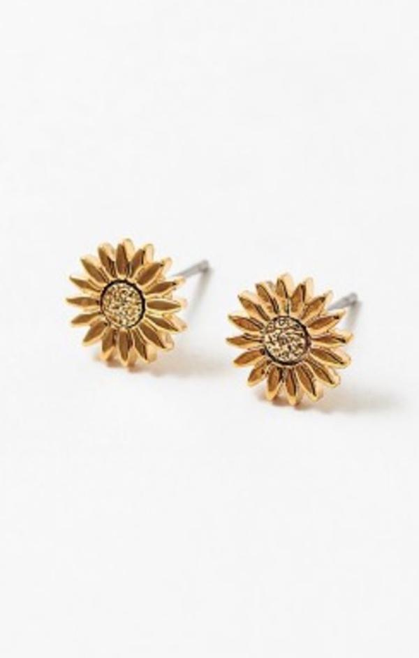 gold dipped sunflower studs