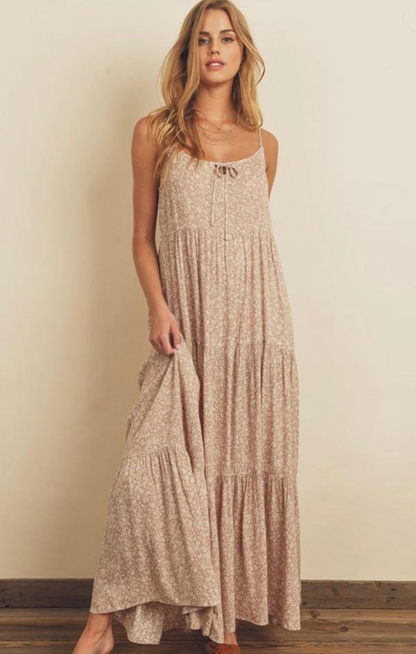 Dainty Floral Tiered Maxi