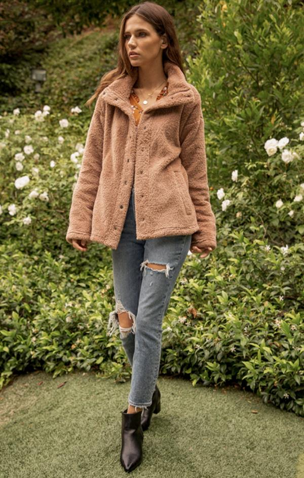 cozy sherpa jacket for fall