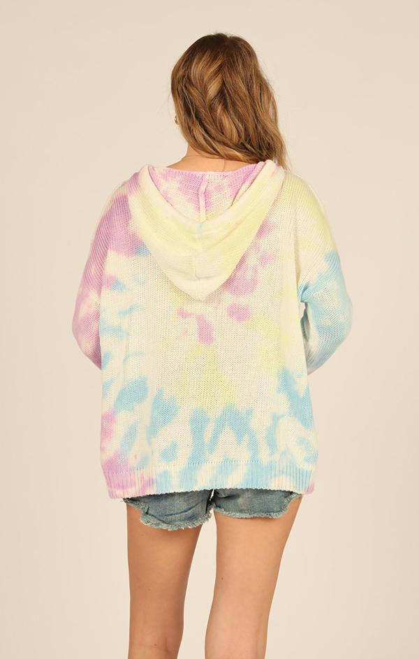 hooded long sleeve summer knit