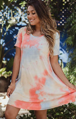 tie dye tee shirt dress by Veronica m