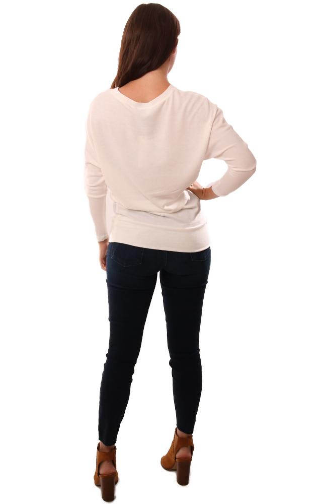Cupcakes And Cashmere Sweaters Long Sleeve Crew Neck Ivory Knit pullover