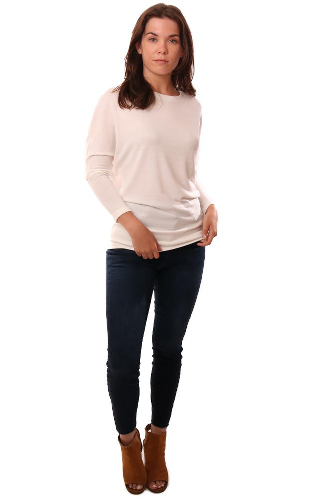 Cupcakes And Cashmere Sweaters Long Sleeve Crew Neck Ivory Pullover Top