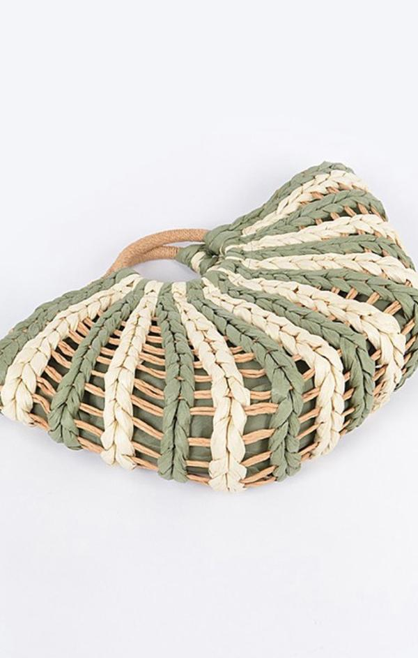 mini woven tote bag for spring and summer