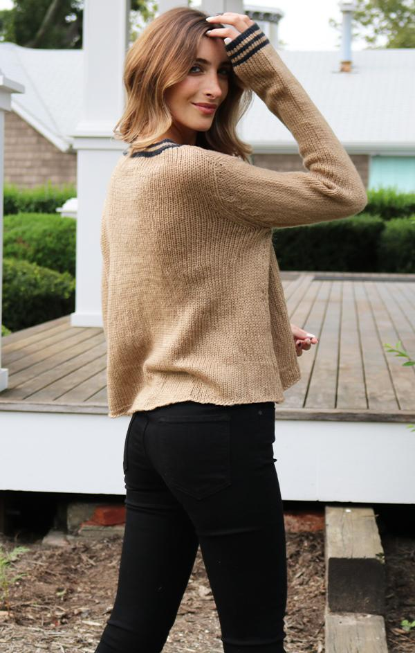 brown cozy fall sweater