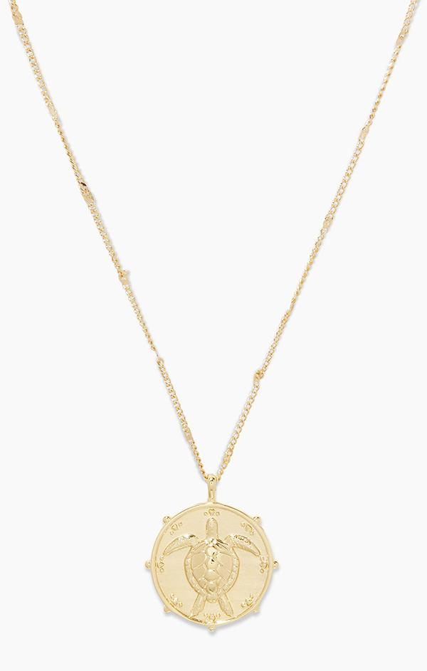 spring gold animal necklace