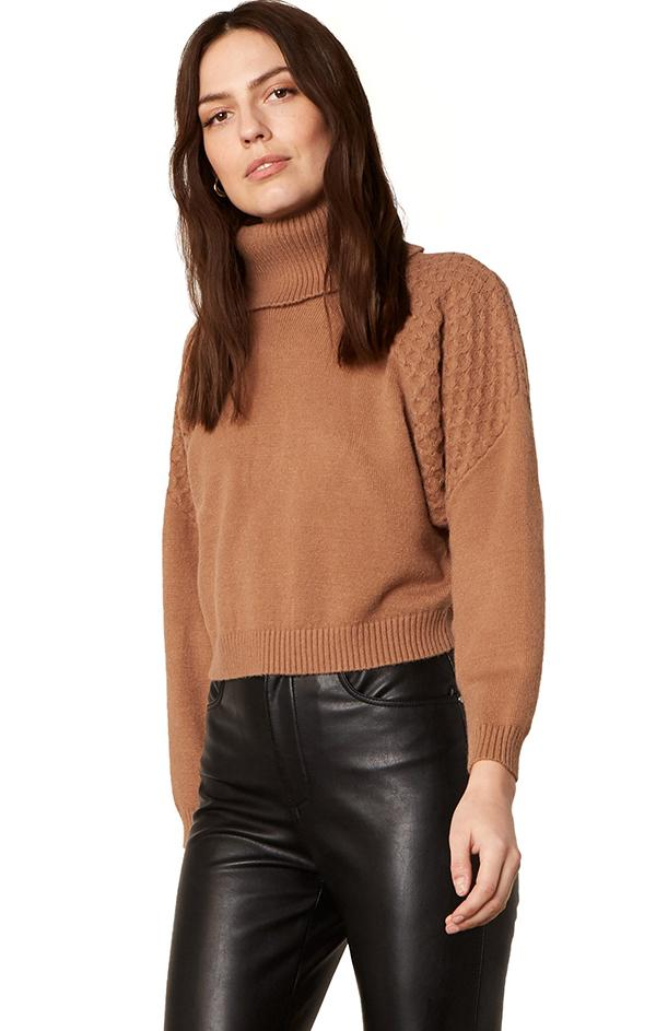 cozy brown knit pullover