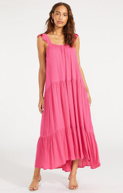 womens spring bb Dakota under the sun dress raspberry