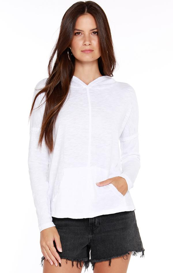 white lightweight hoodie for spring
