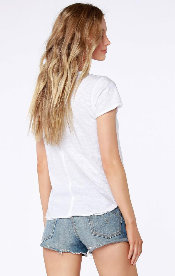 lightweight raw edge top