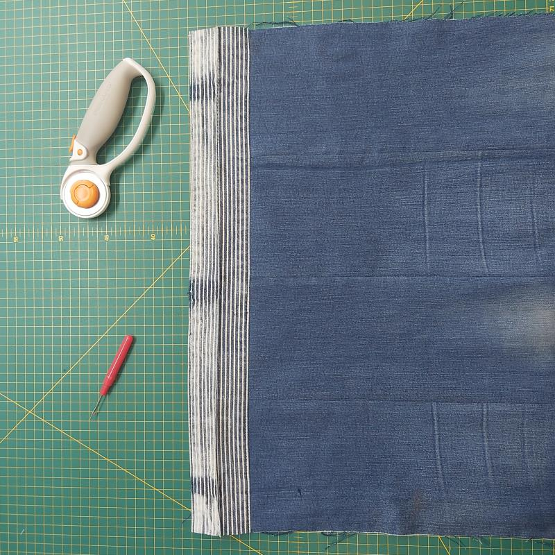 DIY Jeans Yoga Bag Freckles and Co Sewing tutorial