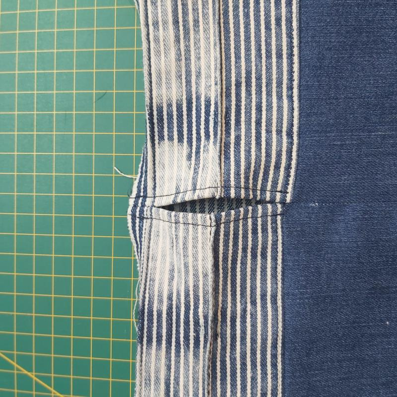 DIY Jeans Yoga Bag Freckles and Co Sewing tutorial top stitch channel