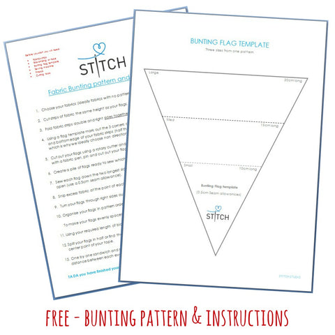 FREE Bunting patterna nd instructions at Stitch