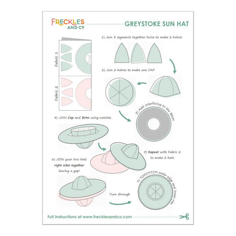 Freckles and Co Greystoke Sun Hat sewing pattern