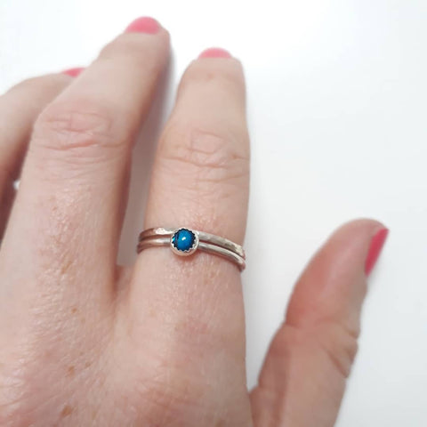 Silver rings made at Stitch Studio UK