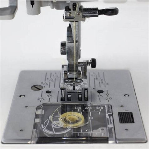 Top loading spool sewing machine