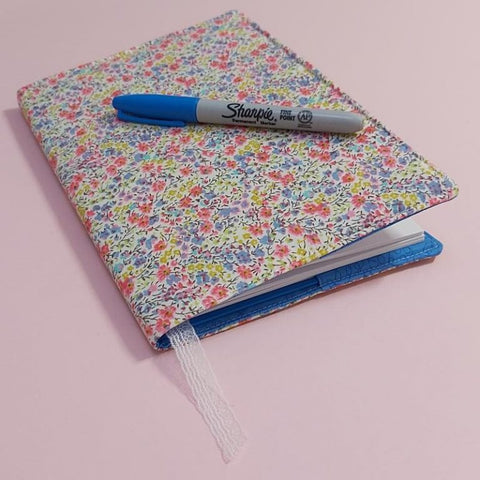 Freckles and Co Fabric Book cover sewing instructions