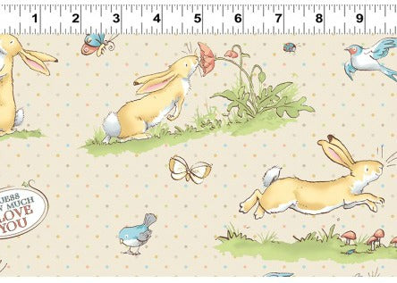 Guess how much i love you rabbits sewing fabric to buy at Stitch