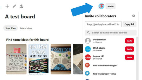 Pinterest add collaborators