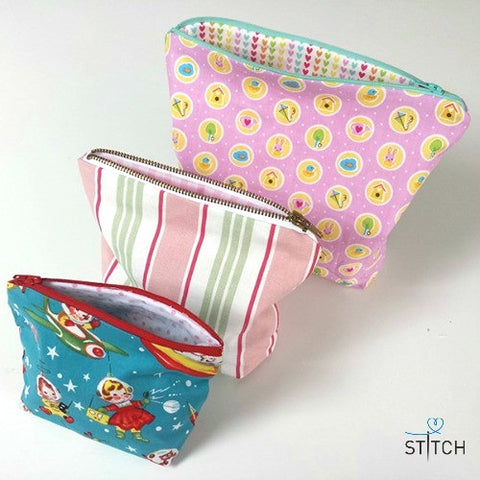 make zipped bags SEWING TUTORIAL