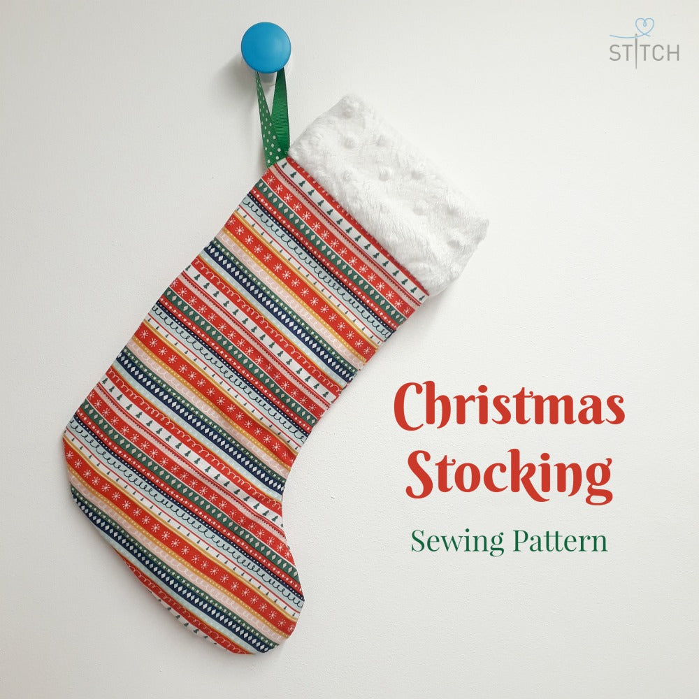 Christmas Stocking Sewing Pattern and Instructions at Stitch ...