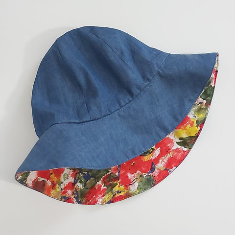 Reversible sun hat - Sewing pattern and Instructions