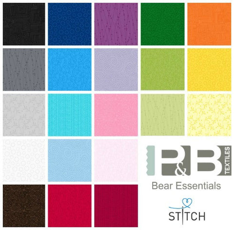 P&B Textiles BEAR ESSENTIALS 3 cotton fabrics