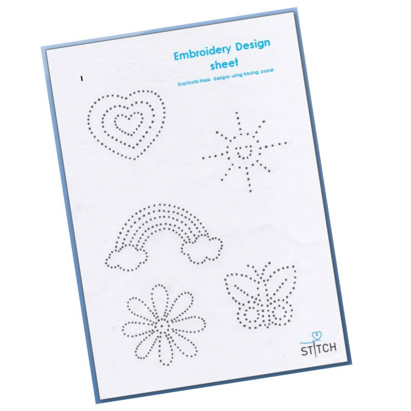 FREE Embroidery design sheet