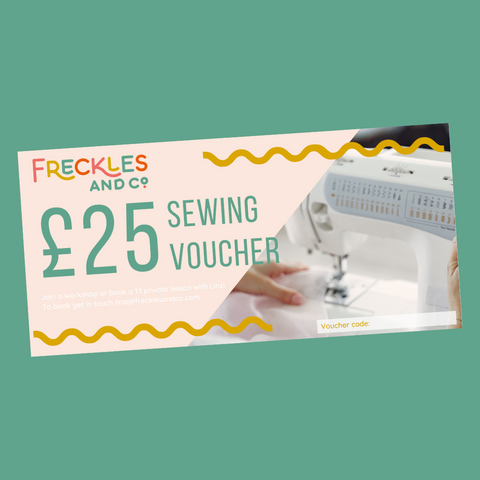 Freckles and Co Sewing Voucher